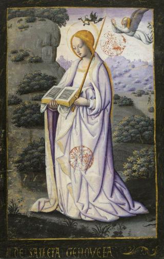 Sainte Geneviève - livre d'heure du XVIème siècle