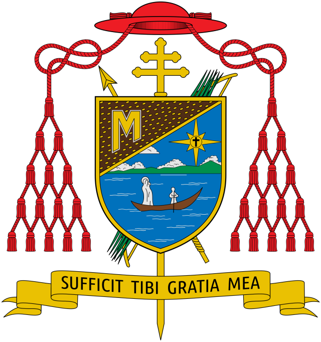 Armes de Son Eminence Robert cardinal Sarah - Sufficit tibi gratia mea - Ma grâce te suffit