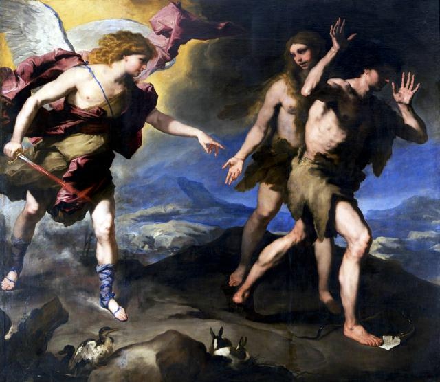 Dimanche de la Septuagésime - L'Exulsion d'Adam - Luca Giordano