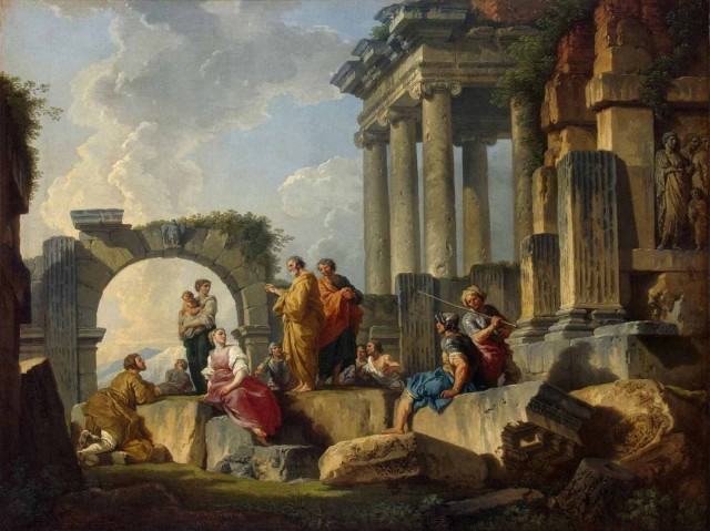 Giovanni Paolo Panini - saint Paul prêchant