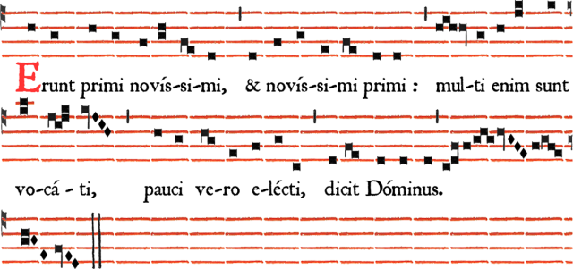 Rit parisien - Antienne de Magnificat Erunt primi novissimi - Ières vêpres du dimanche de la Sexagésime