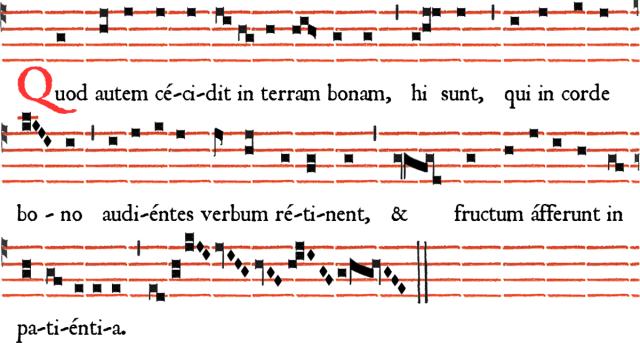 Rit parisien - Antienne de Magnificat Quod autem cecidit - Ières vêpres du dimanche de la Sexagésime