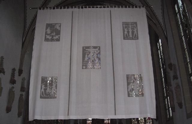 Voile de Carême de l'église Saint-Magnus d'Everswinkel  - éléments remontant à 1614