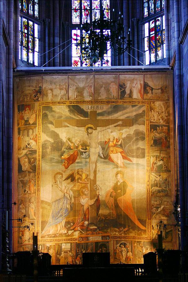 Voile de Carême de la cathédrale de Fribourg - 1612