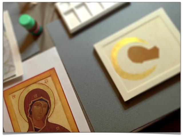 Atelier d'iconographie - Anne Nicolas - à la paroisse catholique russe de Paris 06