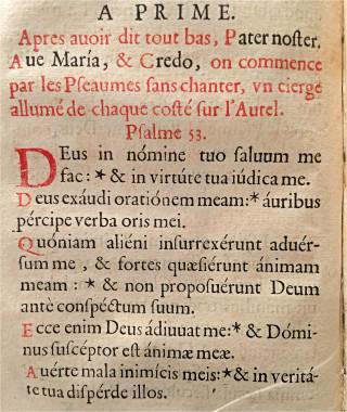 Début de l'office de prime durant le Triduum pascal - L'office de la Semaine Sainte selon le Missel & Bréviaire Romain - Paris, Clopejau 1659