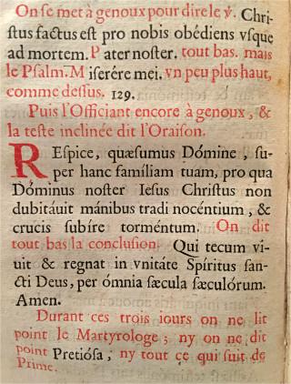 Fin des offices durant le Triduum pascal - L'office de la Semaine Sainte selon le Missel & Bréviaire Romain - Paris, Clopejau 1659