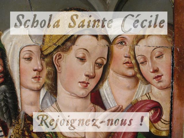 Recrutement Schola Sainte Cécile