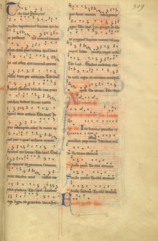 Tibi laus perennis auctor - Missel parisien du XIIIème siècle
