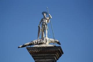 Statue de saint Théodore par Stefano Bolognini - Venise