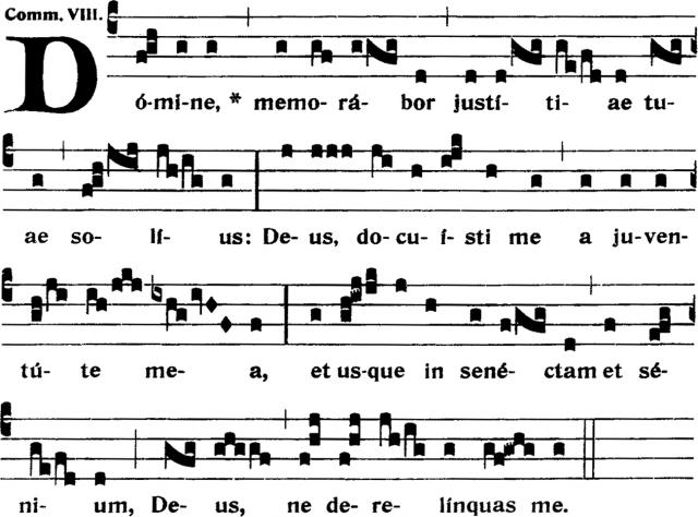 Communion - Domine, memorabor - ton 8