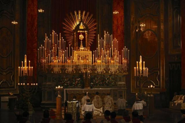 Les Quarante Heures célébrées à l'Oratoire de Londres.