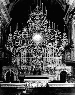 Machine des Quarante-Heures de la paroisse de Colere - Italie.
