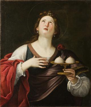 Sainte Agathe portant ses seins arrachés