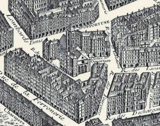 Sainte-Opportune sur le plan de Turgot de 1739.