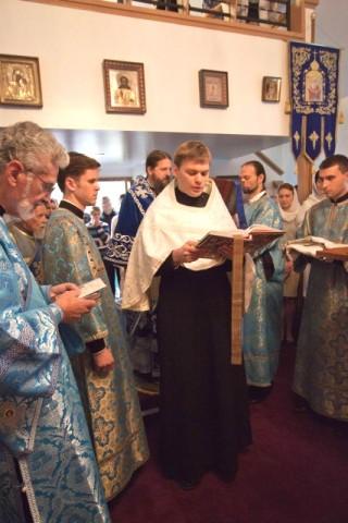 Le lecteur byzantin nouvellement ordonné & revêtu du petit phélonion chante l'épître