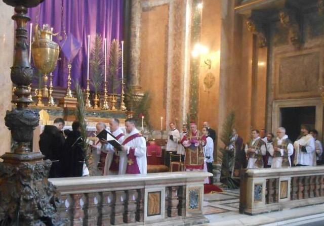 Passion selon saint Matthieu - messe pontificale des Rameaux - Rome.