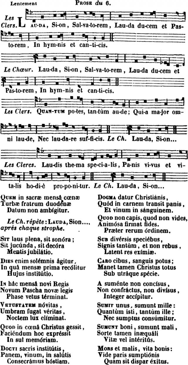 Lauda Sion en plain-chant d'Amiens