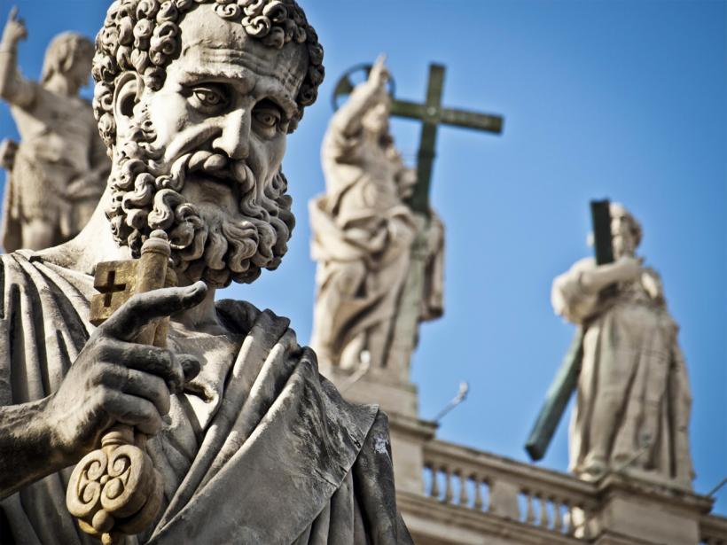 La statue de saint Pierre au Vatican