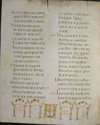 Le Codex Rehdigeranus, évangéliaire aquiléen du VIIème-VIIIème siècle.