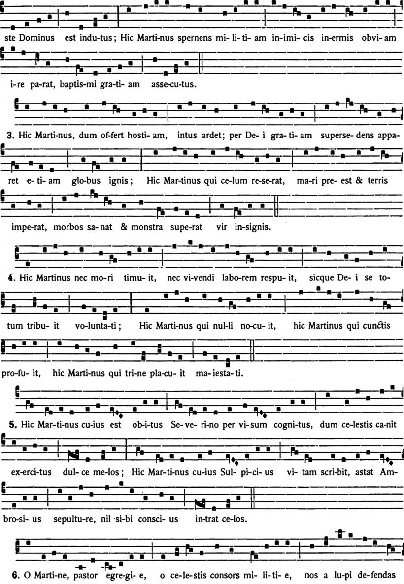 Gaude Sion - prose d'Adam de Saint-Victor pour la fête de saint Martin