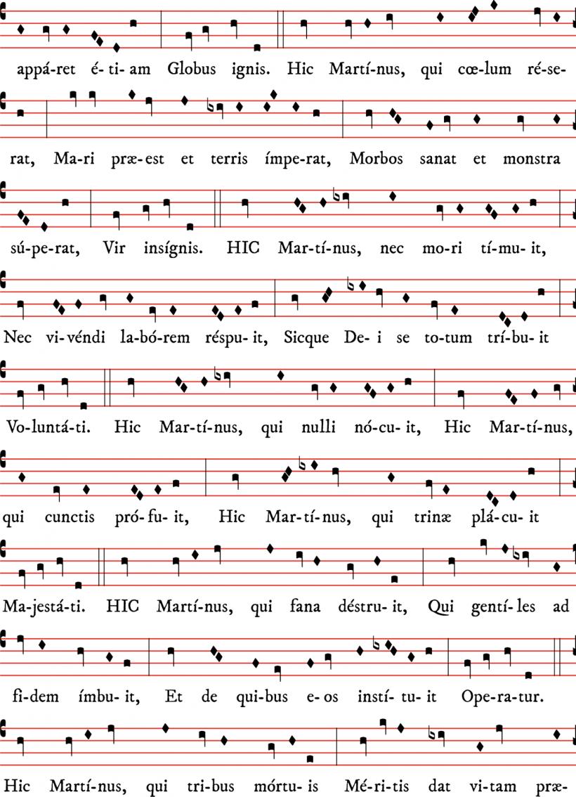 Prose de saint Martin - chant de l'Abbé d'Haudimont