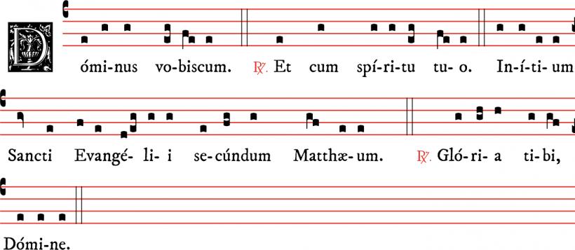 Dominus vobiscum de la généalogie des matines de Noël