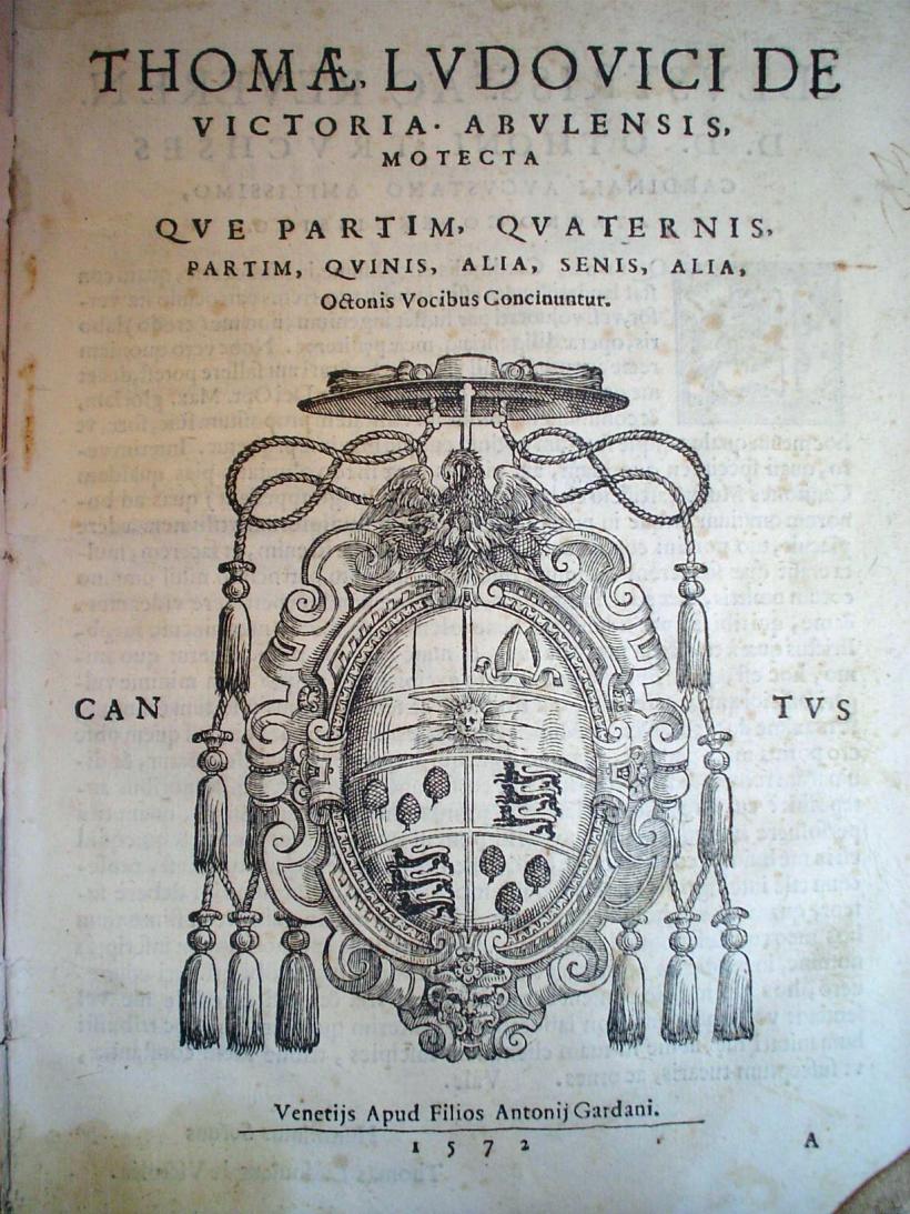 O magnum mysterium - Victoria - Frontispice de l'édition de 1572