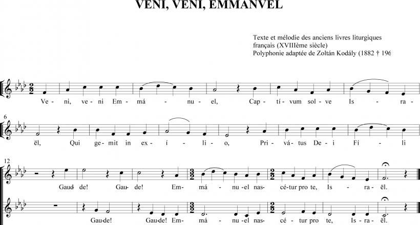 Veni, veni Emmanuel - simplex