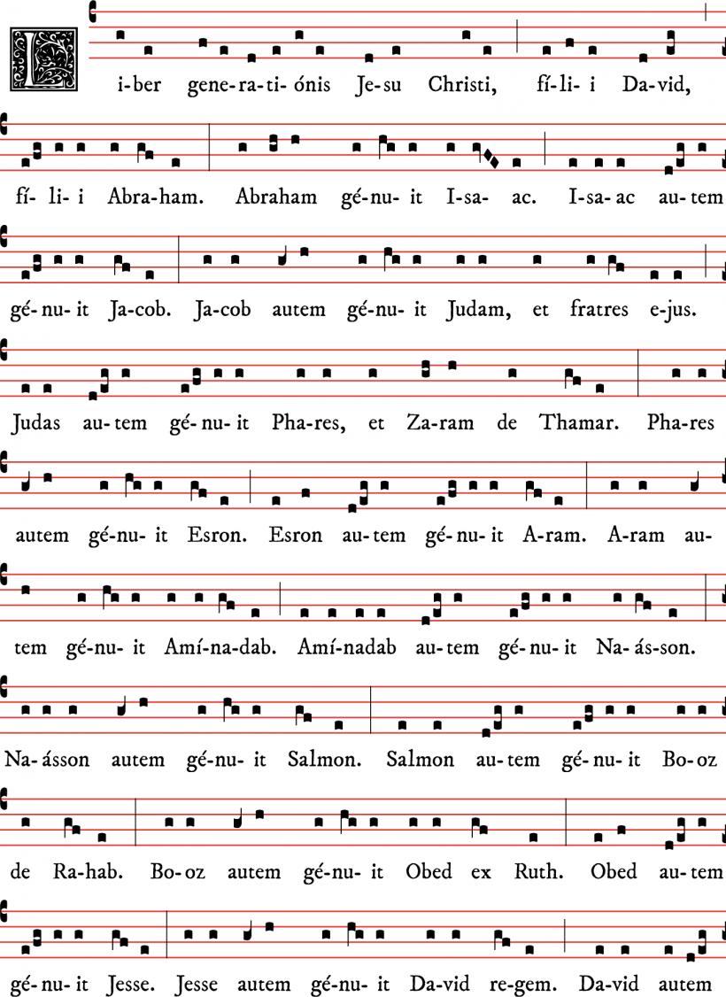 Généalogie de Notre Seigneur Jésus-Christ selon Matthieu, des matines de Noël - tradition parisienne 01
