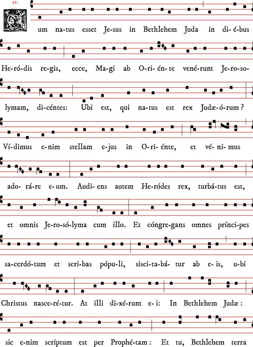 Chant de l'Evangile de l'Epiphanie