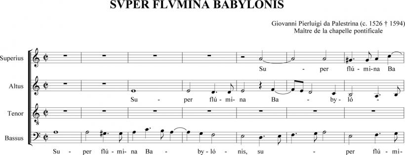 Super flumina Babylonis - Palestrina