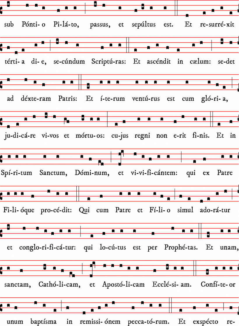 Credo - messe I - rit dominicain