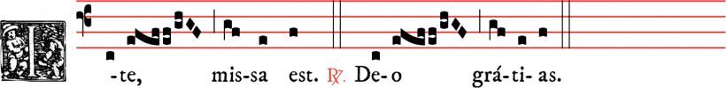 Ite, missa est - messe I - rit dominicain