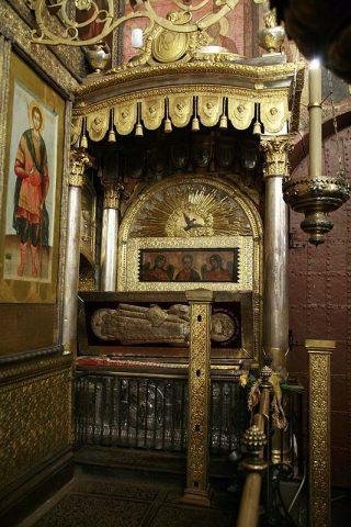 Reliques de saint Philippe de Moscou dans la cathédrale de la Dormition au Kremlin