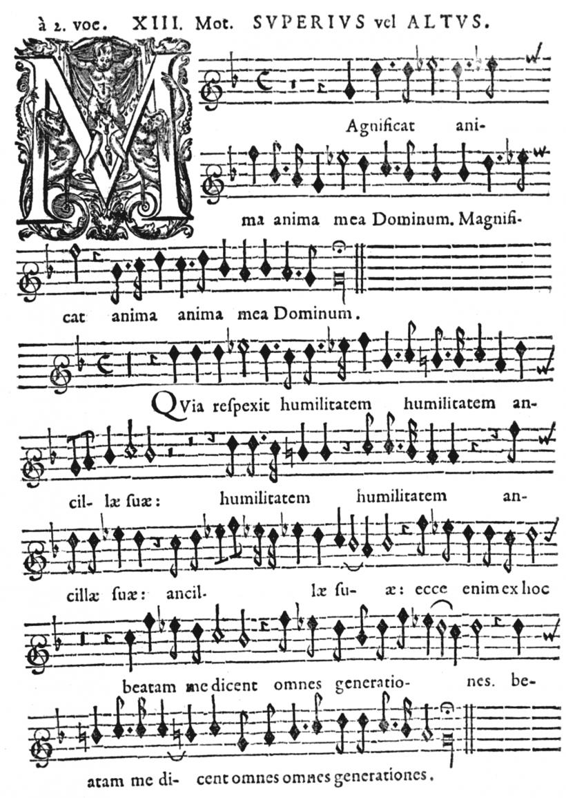 Henry du Mont - Magnificat du second ton - partie du Superius - Cantica Sacra - Edition de 1652.