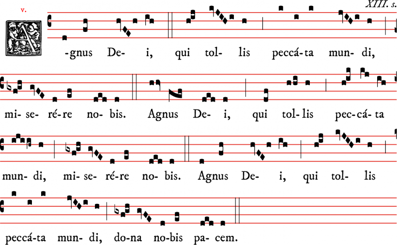 Agnus Dei - messe V en plain-chant dominicain