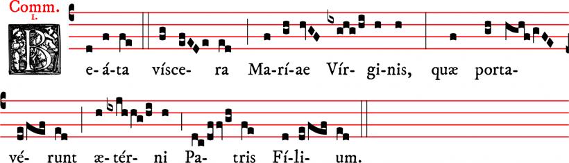 Communion Beata viscera - ton 1 - plain-chant du rit dominicain