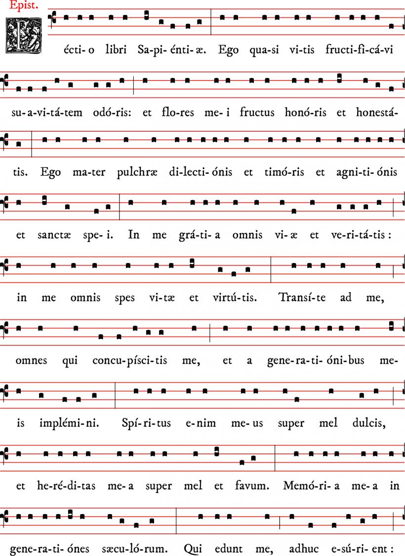 Epître du Très-Saint Nom de Marie - cantilène dominicaine