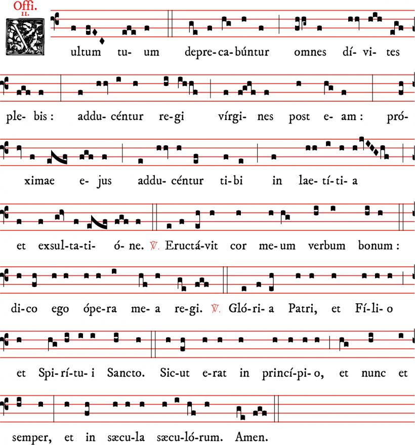 Officium - Vultum tuum -  ton 2 - Gloria Patri noté