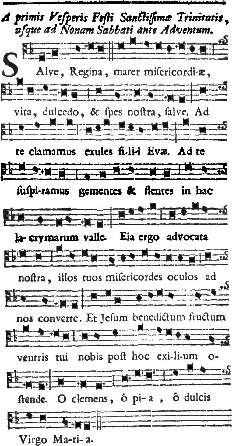 Salve Regina oratorien - 1753