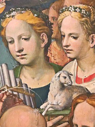 Bartolomeo Neroni detto il Riccio - Le Paradis (détail : sainte Cécile & sainte Agnès)