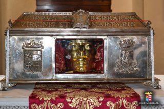 Reliquaire de sainte Barbe sur l'ile de Burano près de Venise.