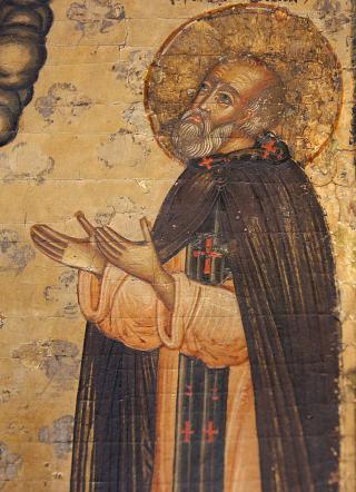 Saint Grégoire le Décapolite - icône russe XVIIème-XVIIIème siècle.