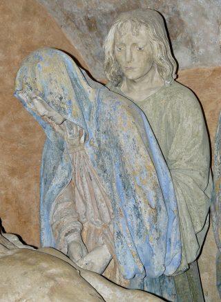 Mise au tombeau de Chaource, la Vierge & saint Jean