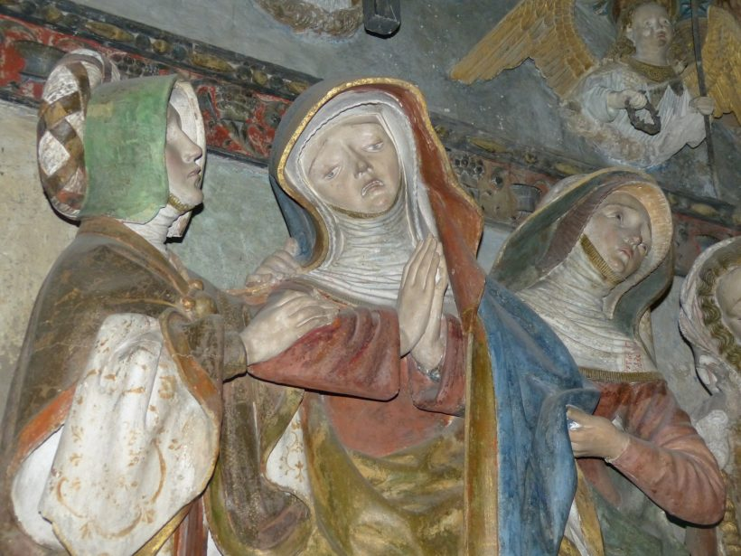 Mise au tombeau de Rodez. La Vierge Marie et les saintes Femmes