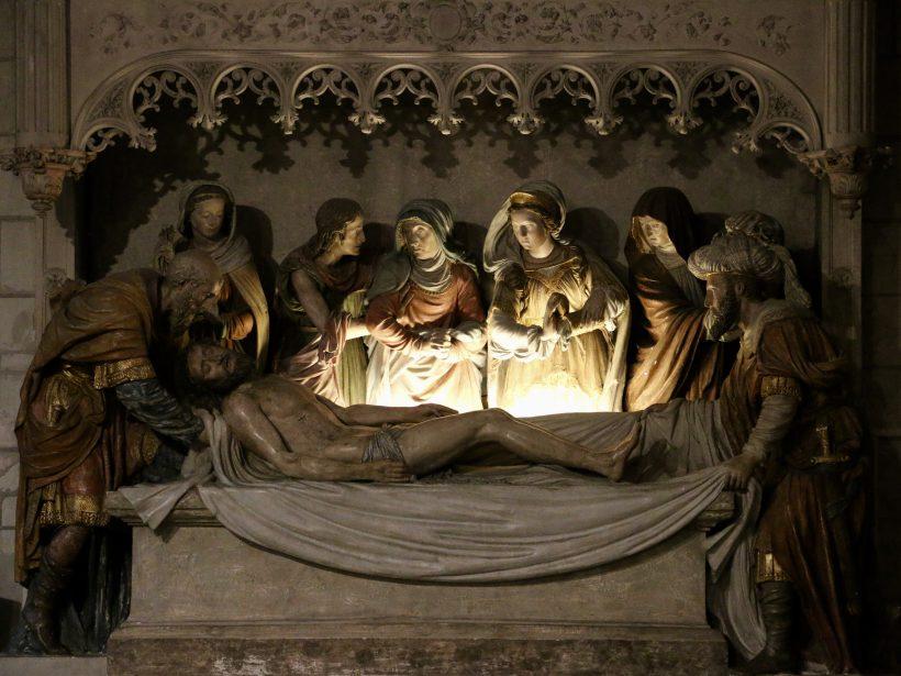Mise au tombeau, église Saint-Denis d'Amboise.
