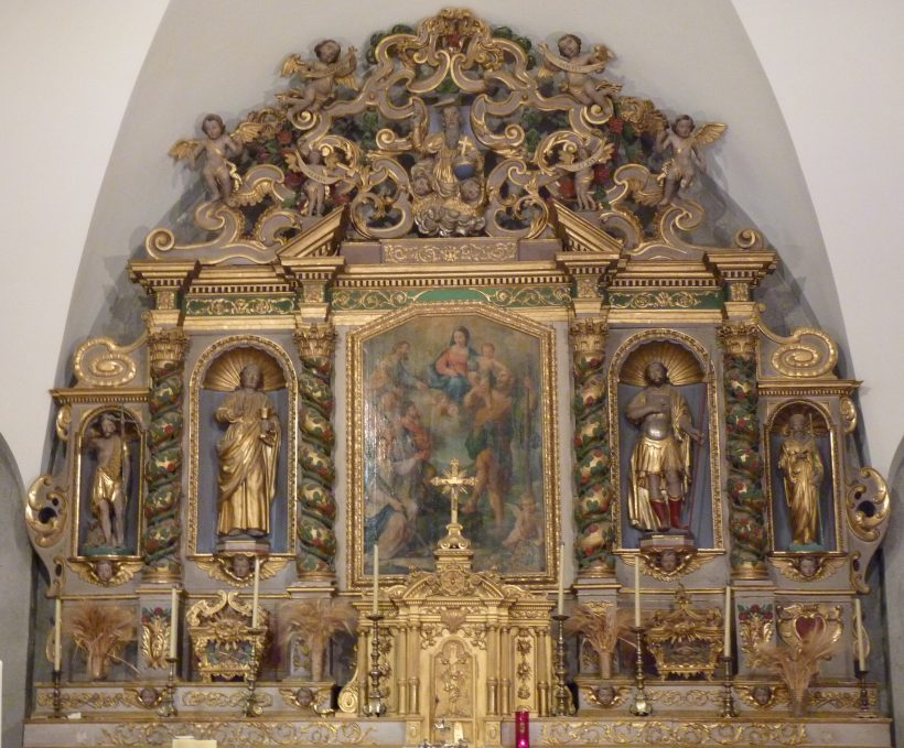 Retable de l'église Saint-Jacques de Tignes.