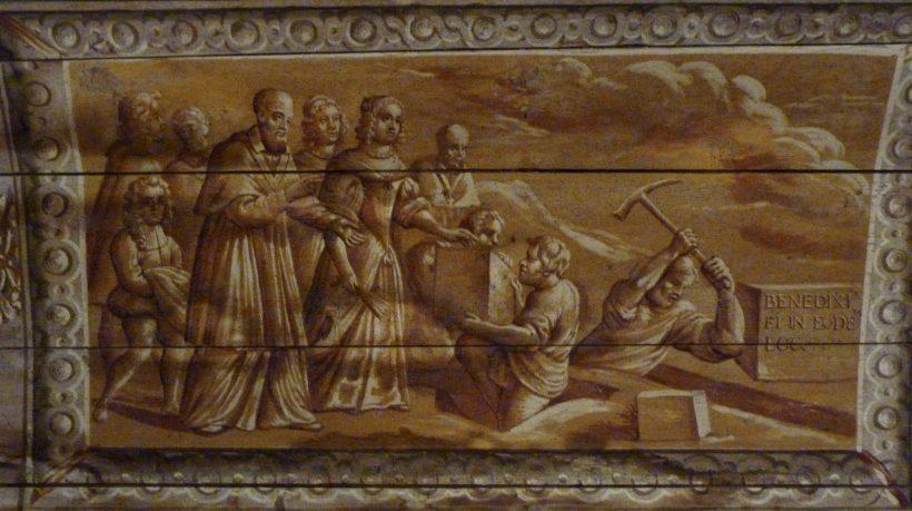 Pose de la première pierre du monastère Sainte-Marie d'en-Haut, Grenoble