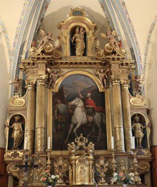 Orelle, église Saint-Maurice, œuvre de François Cuenot, 1657.